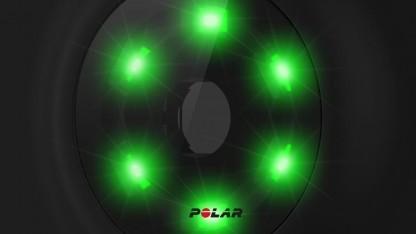 Die sechs LED des Polar M600