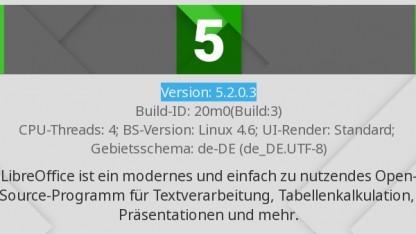 Libreoffice ist in Version 5.2 erschienen.