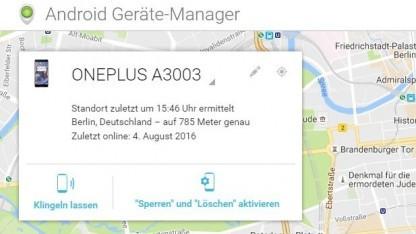 Über den Android Device Manager lassen sich nicht mehr nur, wie hier, Android-Geräte finden, sondern auch bestimmte Chromebooks.