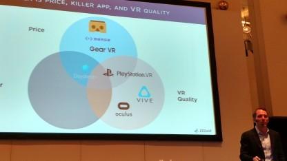 EEADR-Marktforscher Patrick Walker stellt Zahlen zum VR-Markt vor.