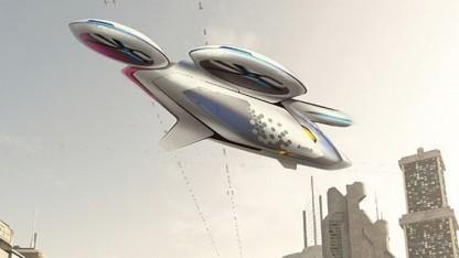 Konzept des City Airbus: zeigen, dass unbemannte Luftfahrzeuge sicher sind
