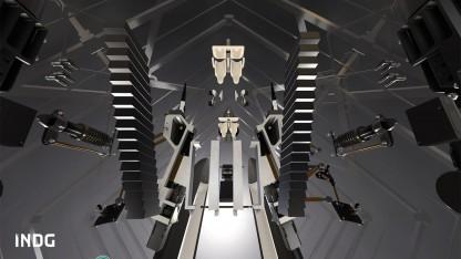Explosionszeichnung der Hyperloop-Kapsel: zweiter Platz im Designwettbewerb