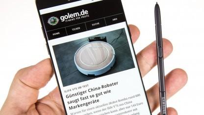 Das neue Galaxy Note 7 mit seinem Eingabestift, dem S Pen