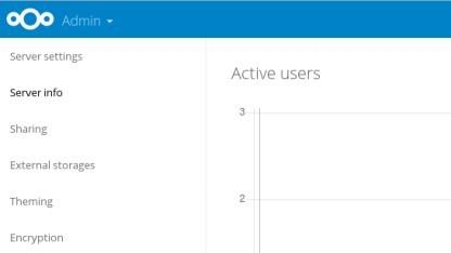 Nextcloud 10 bietet detaillierte Serverinfos.
