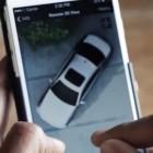 Draufsicht: Neuer 5er BMW mit Überwachungskameras