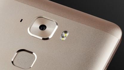 Das X5520 hat einen Fingerabdrucksensor.
