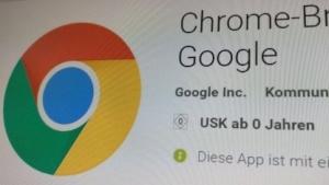 Das Update für Chrome gibt es im Play Store.