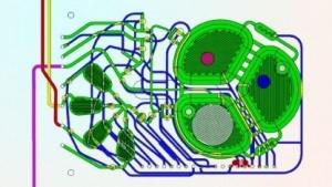 Schemazeichung des Bioreaktors: Hefezellen produzieren zwei Substanzen