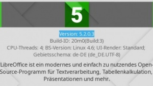 Libreoffice ist in Version 5.2 erschienen.