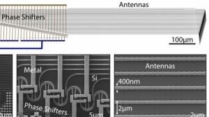 Der Laserscanner auf Chip-Basis ist nur wenige Millimeter groß.