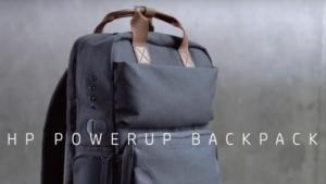 HPs Notebook-Rucksack kommt mit einem Akkupack.