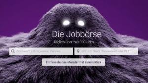 Startseite von Monster.de
