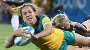 Das IOC mag es nicht, wenn Videomaterial der Spiele in Rio einfach verbreitet wird - hier ein Bild des Rugby-Finalspiels der Damen.