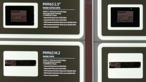 PM963 und SM963 neben weiteren SSDs