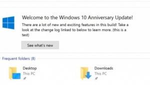 Nur eine sichtbare Neuerung hat Microsoft angekündigt: die Anzeige von neuen Funktionen im Explorer.