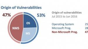 Die Verteilung der Sicherheitslücken bei deutschen Nutzern