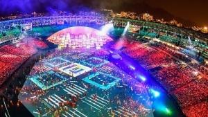 Eröffnungsfeier der Olympischen Spiele in Rio 2016 im Maracanã