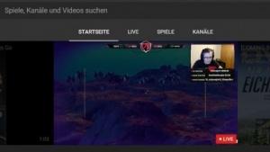 Die Startseite von Youtube Gaming