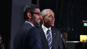US-Präsident Barack Obama, Google-Chef Sundar Pichai: Transparenz fordern, ohne selbst transparent zu sein