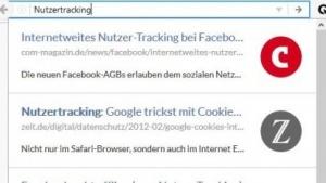 Cliqz zeigt Suchergebnisse direkt in der Browserzeile an.