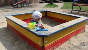 In diesem Sandkasten ist die Welt noch in Ordnung.