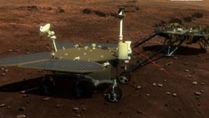 Chinas neuer Marsrover als Computeranimation