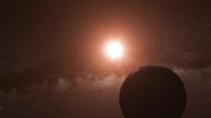 Der Planet von Proxima Centauri, künstlerische Darstellung