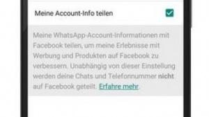 Der Nutzung von Whatsapp-Daten durch Facebook kann widersprochen werden.