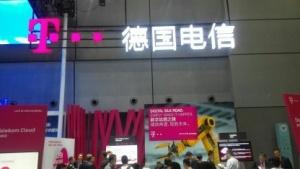 Messestand der Telekom in Schanghai auf der Huawei Conenct 2016