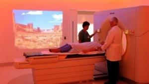 Scan des Kopfes eines Krebspatienten