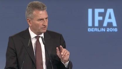 Günther Oettinger bei der Eröffnung der Ifa 2016