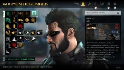 Menü von Deus Ex Mankind Divided