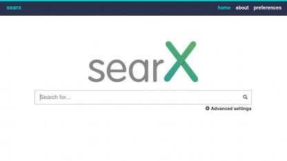 Die Suchmaske von Searx.de