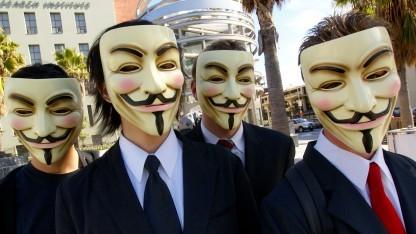 Anonyme Teilnehmer einer Demonstration