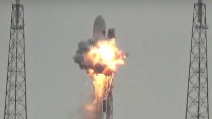 Feuerball 130 Millisekunden nach Beginn der Explosion
