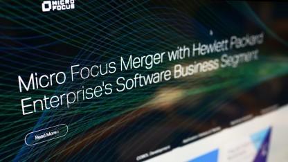 Die Homepage von Micro Focus