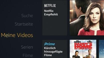 Netflix-Inhalte direkt auf der Fire-TV-Oberfläche