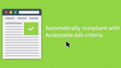 Die erlaubten Anzeigen sollen einfach einzubinden sein.