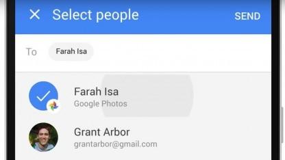 Das neue Teilen-Menü von Google Fotos