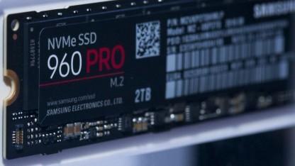 Auch die 960 Pro mit 2 TByte arbeitet mit dem 2280er-Format.