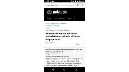 Golem.de liefert Webseiten per AMP aus.