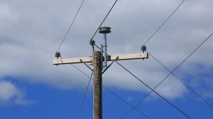 Auf dem Mast von AT&T
