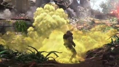 Szene mit Giftgas aus dem ersten Ankündigungstrailer von Battlefield 1
