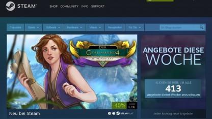Aktuelle Version der Steam-Homepage