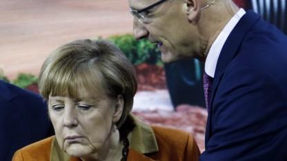 Höttges zeigt Merkel, wie es geht.