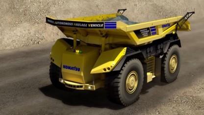 Innovative Autonomous Haulage Vehicle: Wendekreis von knapp 16 Metern