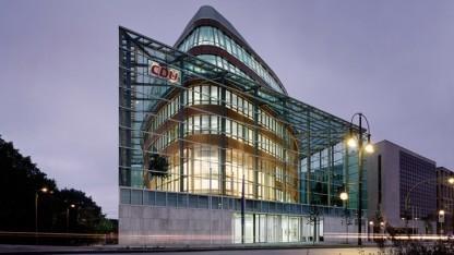 Die Zentrale der CDU, das Konrad-Adenauer-Haus in Berlin