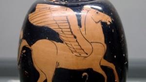 Das Fabelwesen Pegasus auf einer Vase