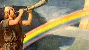 Die mythische Brücke Bifröst zwischen Midgard und Asgard