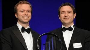 Christian und Kai Wawrzinek im Jahr 2011 bei einer Preisverleihung